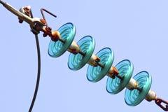 Isolants de cable électrique photo libre de droits