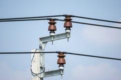 Isolants de ligne électrique photos libres de droits