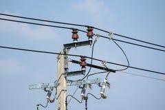 Isolants de ligne électrique images libres de droits