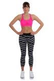 Isolat портрета тела пригонки положения женщины спорт фитнеса тонкое полное Стоковое Изображение