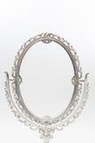 isolat argenté de miroir de maquillage Photographie stock libre de droits