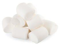Isolat blanc de sucrerie de guimauves Image stock