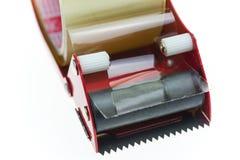 Isolat clair de texture de ruban adhésif sur le fond blanc Image stock