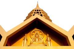 Isolat d'or de temple Photographie stock libre de droits