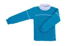 Isolat d'enfants de knit de chandail sur le fond blanc Photographie stock