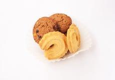 Isolat de biscuit sur le fond blanc Photographie stock libre de droits
