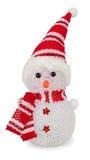 Isolat de bonhomme de neige de jouet Photographie stock