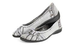 isolat de chaussure de mode de femme vieil sur le blanc Photo libre de droits