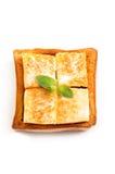 Isolat de crême glacée et de pain Photographie stock libre de droits
