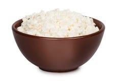 Isolat de fromage blanc Images libres de droits