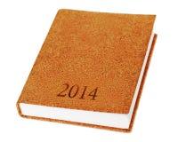 isolat 2014 de livre de journal intime sur le fond blanc. Photo libre de droits
