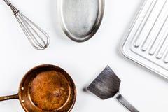 Isolat de los utensilios de la cocina Fotografía de archivo