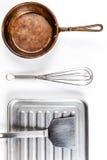 Isolat de los utensilios de la cocina Imágenes de archivo libres de regalías