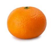 Isolat de mandarine sur le fond blanc Images libres de droits