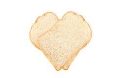 Isolat de pain blanc sur le fond blanc Image libre de droits
