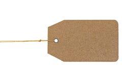 Isolat de papier d'étiquette sur le fond blanc Images stock