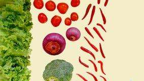 Isolat de piments de Blocolli d'oignon de tomate de laitue sur le fond blanc photos libres de droits
