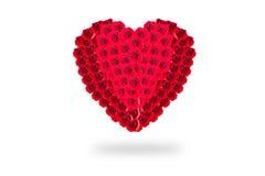 Isolat de Rose Flowers Heart sur le fond blanc valentine L Image stock