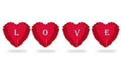 Isolat de Rose Flowers Heart sur le fond blanc valentine L Images libres de droits