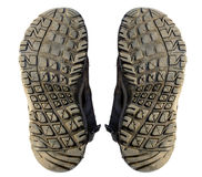 Isolat de semelles de chaussure vieil Photographie stock
