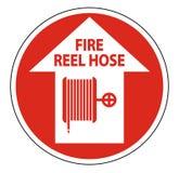 Isolat de signe de plancher de tuyau de bobine de feu sur le fond blanc, illustration de vecteur illustration libre de droits