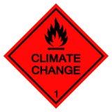Isolat de signe de symbole de changement climatique sur le fond blanc, illustration ENV de vecteur 10 illustration de vecteur