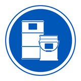 Isolat de signe de symbole de région de tambour de peinture sur le fond blanc, illustration ENV de vecteur 10 illustration stock