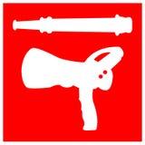 Isolat de signe de symbole de têtes arroseuses du feu sur le fond blanc, illustration ENV de vecteur 10 illustration de vecteur