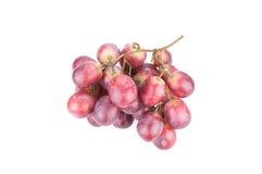 Isolat der roten Trauben auf weißem Hintergrund Stockbilder