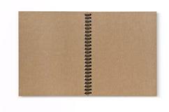 Isolat der vorderen Abdeckung des Recyclingpapiernotizbuches Lizenzfreie Stockbilder
