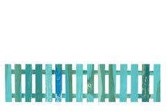 Isolat en bois de barrière sur le fond blanc Photographie stock