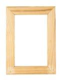 Isolat en bois de cadre de tableau Images libres de droits