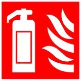 Isolat för brandsläckaresymboltecken på vit bakgrund, vektorillustration EPS 10 stock illustrationer