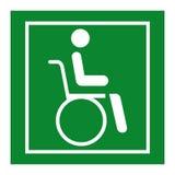 Isolat för tecken för symbol för sjukhus för hjulstol på vit bakgrund, vektorillustration EPS 10 stock illustrationer