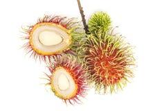 Isolat frais de fruit de ramboutan sur le fond blanc, frui de ramboutan Photos libres de droits