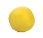 Isolat jaune de pomme avec le fond blanc Photographie stock libre de droits