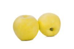 Isolat jaune de pomme le fond blanc Photo stock