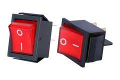 Isolat marche-arrêt de commutateur électrique sur le blanc image libre de droits