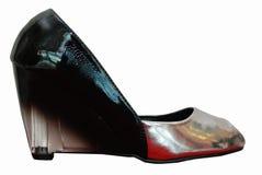 Isolat noir de chaussures de talon haut sur le blanc Photo libre de droits