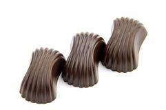 Isolatbackground delle caramelle di cioccolato Immagine Stock