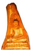 Isolatbuddha-Statue Stockfotografie