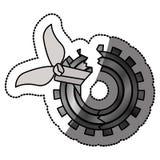 Isolatd broken gear design Royalty Free Stock Images