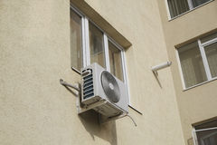 Isolate air conditioning device Royalty Free Stock Photo