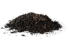 Isolate black dry soil Stock Photo