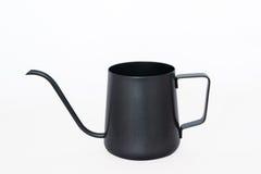Isolate black tea pot on white background. Large Isolate black tea pot on white background Royalty Free Stock Photos