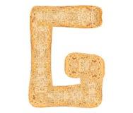 Isolate Bread Alphabet Royalty Free Stock Image