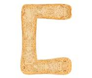 Isolate Bread Alphabet Stock Photo
