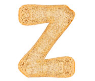 Isolate Bread Alphabet. Isolate bread letter, alphabet on white background Stock Images