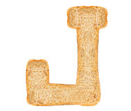 Isolate Bread Alphabet. Isolate bread letter, alphabet on white background Stock Photos