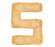 Isolate Bread Alphabet Royalty Free Stock Images
